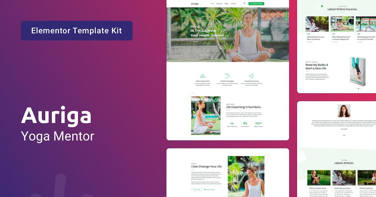 Download Auriga — Health Coach & Yoga Mentor Elementor Template Kit by 42Theme