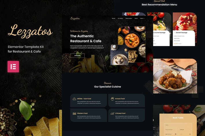 Lezzatos | Restaurant & Cafe Elementor Template Kit