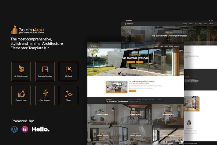 Thumbnail for GoldenArch - Real Estate Elementor Template Kit