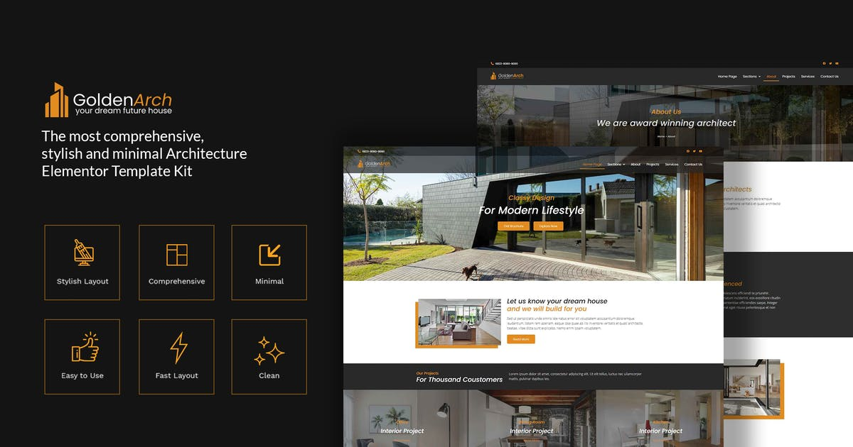 Download GoldenArch - Real Estate Elementor Template Kit by CocoTemplates