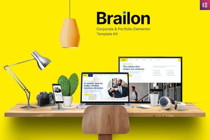 Thumbnail for Brailon - Unternehmens- & Portfolio Elementor Template Kit