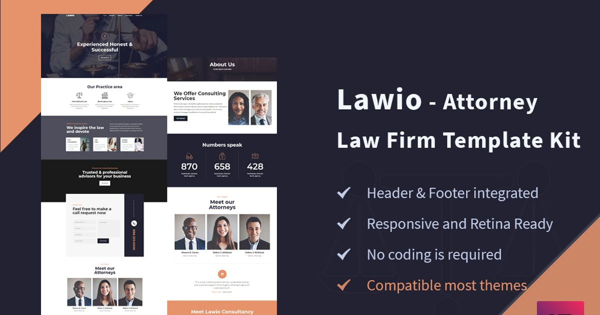 Download Lawio - Attorney Law Firm Elementor Template Kit by themesflat