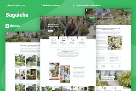 Bageicha - Template Kit de elementos de jardinería y paisaje