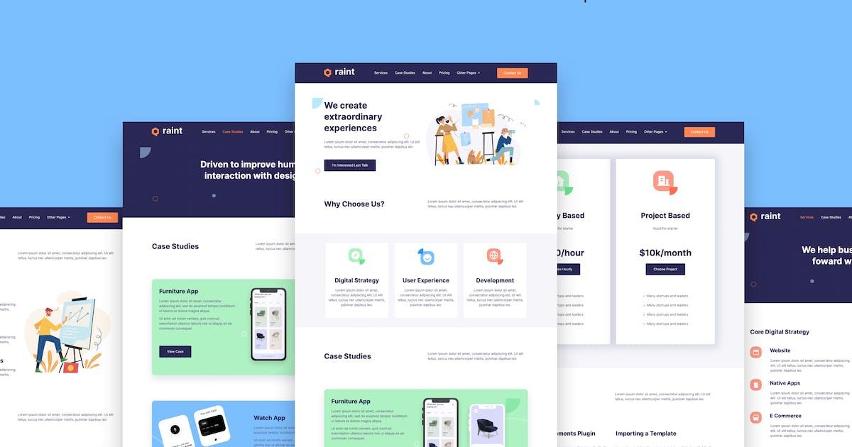 Download Raint - Digital Agency Elementor Template Kit by templatejson
