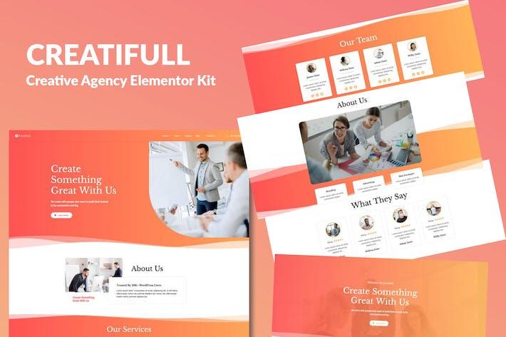 Thumbnail for Creatifull - Creative Agency Elementor Template Kit