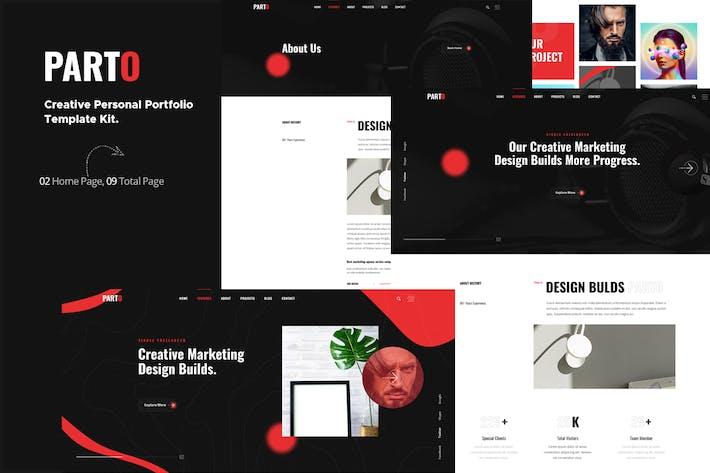 Thumbnail for Parto — Creative Persönliches Portfolio Elementor Template Kit