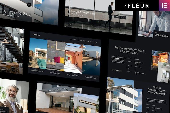 Thumbnail for Fleur - Architecture & Interior Elementor Template Kit