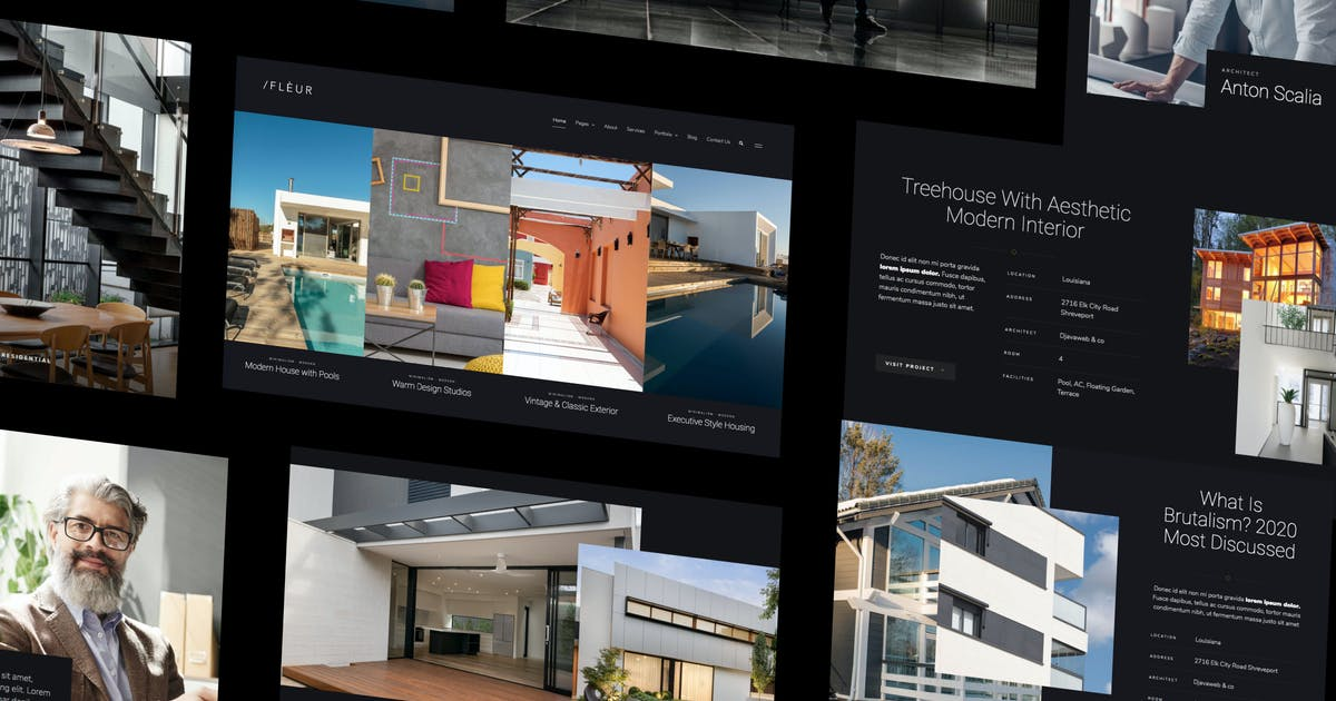 Download Fleur - Architecture & Interior Elementor Template Kit by deTheme