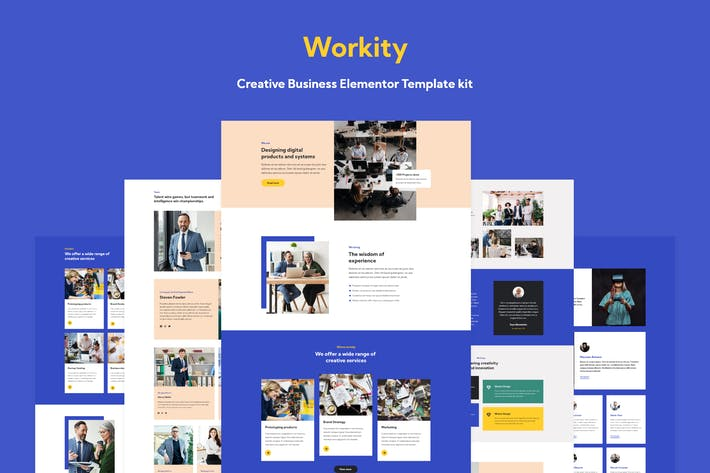 Thumbnail for Workity- Creative Business Elementor Template kit