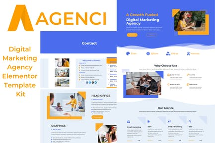 Agenci - Digital Marketing Agency Elementor Template Kit