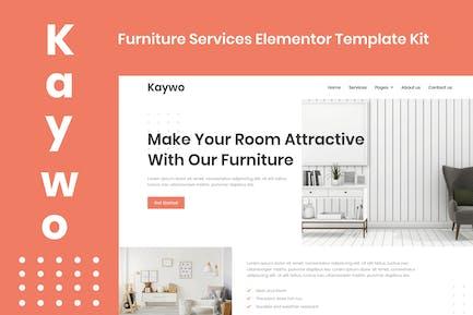 Kaywo - Furniture Services Elementor Template Kit