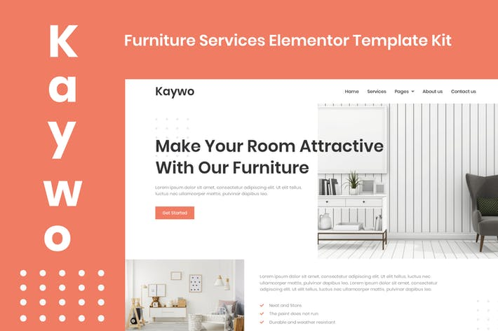 Thumbnail for Kaywo - Furniture Services Elementor Template Kit