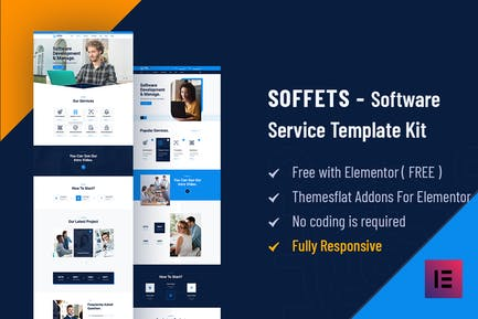Soffets - Software & IT Service Elementor Template Kit