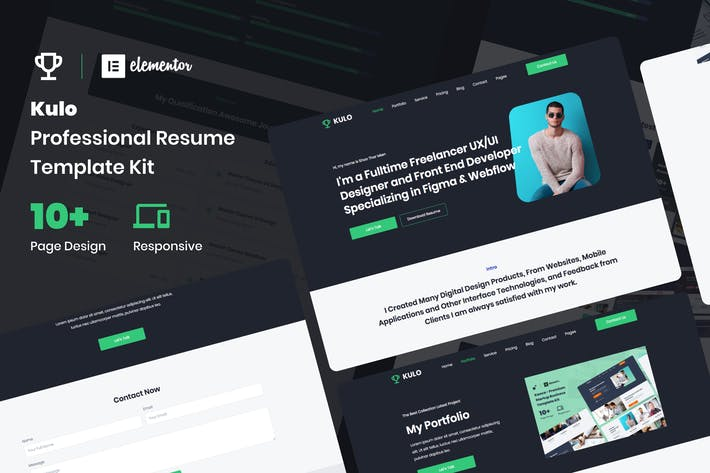 Thumbnail for Kulo - Professional Resume Elementor Template Kit
