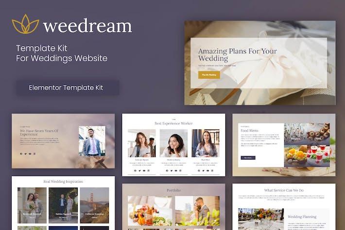 Thumbnail for Weedream - Wedding Elementor Template Kit