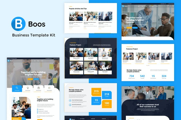 Thumbnail for Boos - Business Elementor Template Kit