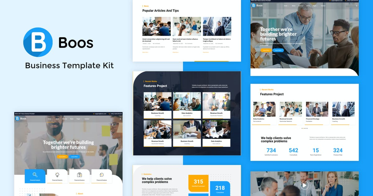 Download Boos - Business Elementor Template Kit by rudhisasmito