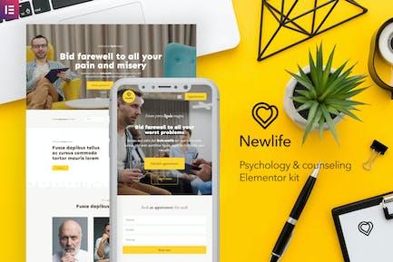 Newlife — Psychologie & Beratung Elementor Template Kit