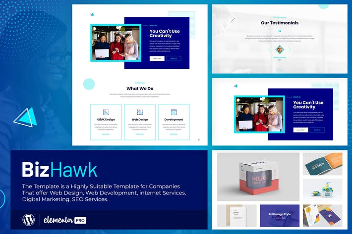 Thumbnail for BizHawk - Template Kit Elementor da Agência Corporativo