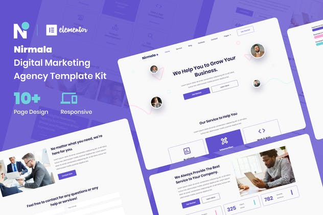 Nirmala - Digital Marketing Agency Elementor Template Kit