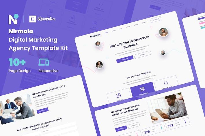 Thumbnail for Nirmala - Digital Marketing Agency Elementor Template Kit