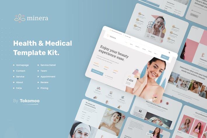 Thumbnail for Minera   Skincare & Dermatology Elementor Template Kit