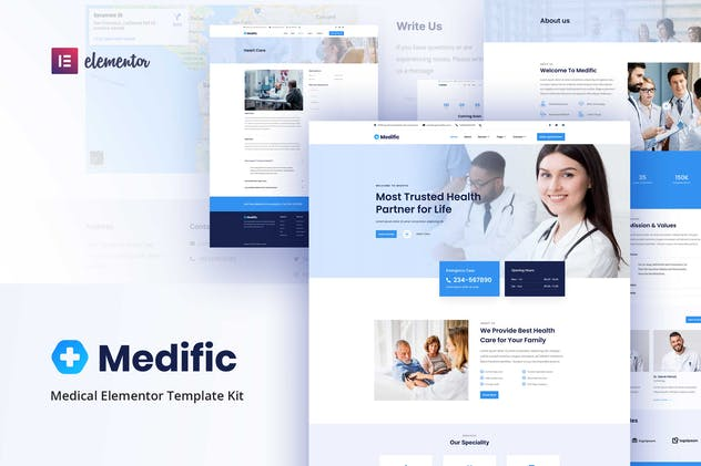 Medific - Medical Elementor Template Kit