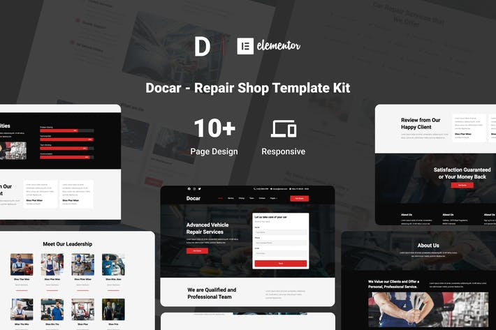 Thumbnail for Docar - Repair Shop Elementor Template Kit