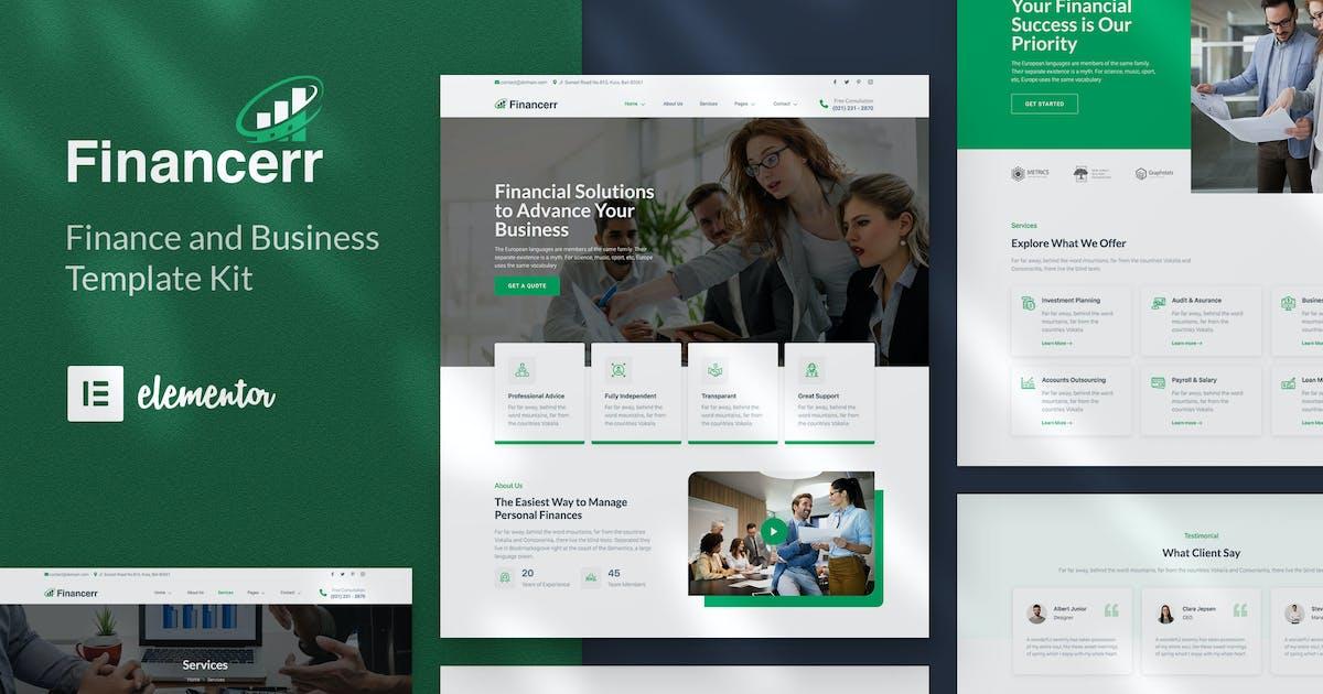 Download Financerr - Business & Finance Template Kit by jegtheme