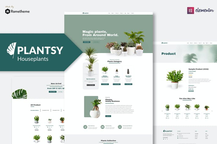 Thumbnail for Plantsy - Houseplants Elementor Template Kit