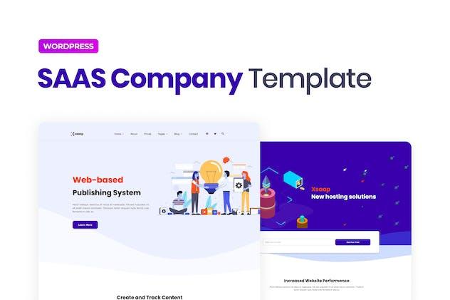 Xsapp – SAAS Company Elementor Template Kit