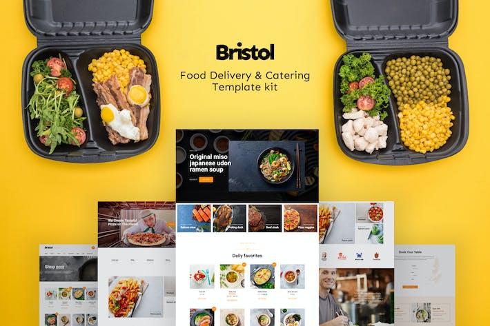 Bristol - Template Kit para entrega de alimentos y catering