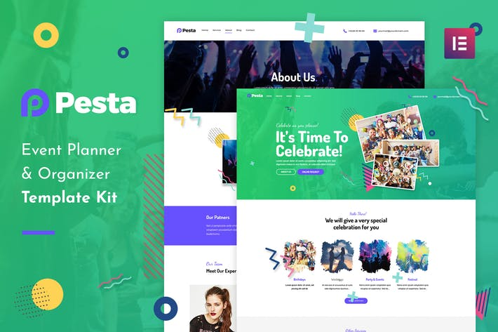 Thumbnail for Pesta Kit - Event Planner & Organizer Elementor Template Kit