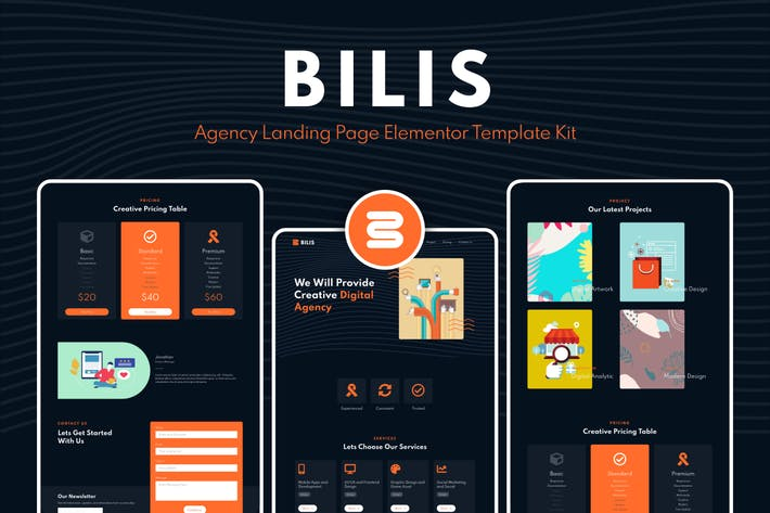 Thumbnail for Bilis - Agency Landing Page Elementor Block Kit
