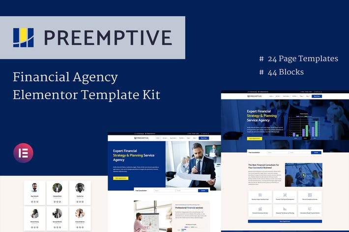 Thumbnail for Preemptive - Business & Finance Elementor Template Kit