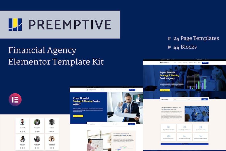 Präemptive - Business & Finance Elementor Template Kit