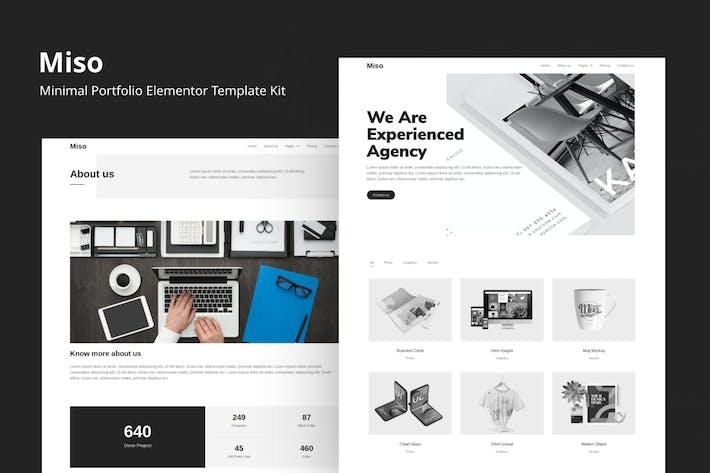 Thumbnail for Miso - Minimal Portfolio Elementor Template Kit