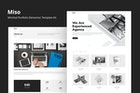 Miso - Minimal Portfolio Elementor Template Kit