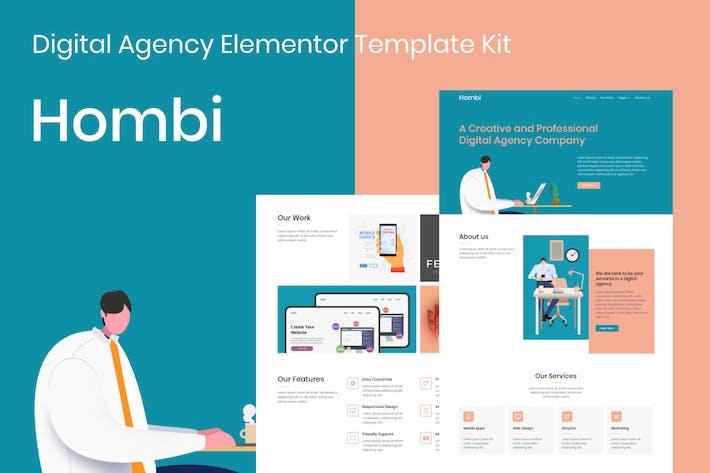 Thumbnail for Hombi - Digital Agency Elementor Template Kit