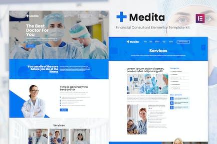 Medita - Medical Service Elementor Template Kit