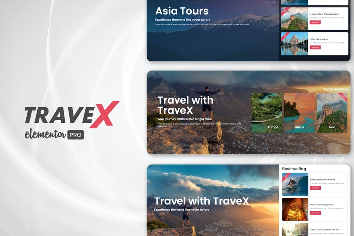 Thumbnail for TraveX - Reise- und ReiseveranAgentur ter Template Kit