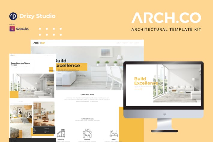 Thumbnail for Archco - Architecture Elementor Template Kit