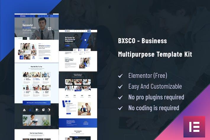 BXSCO - Business Mehrzweck-Elementor-Template Kit