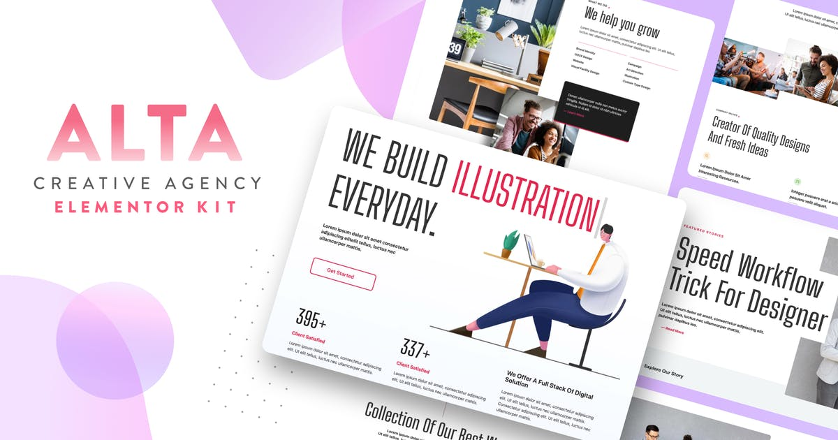 Download ALTA - Creative Agency Elementor Template Kit by CreativeZeune