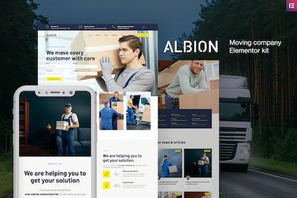 Albion — Template Kit Elementor de Moving Company