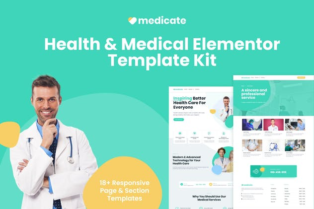 Medicate - Health & Medical Elementor Template Kit