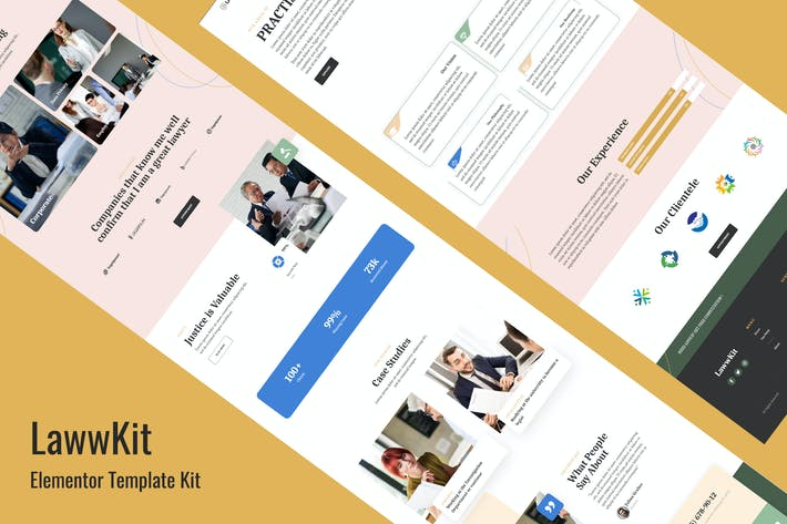 Thumbnail for Lawwkit - Legal Practice Elementor Template Kit