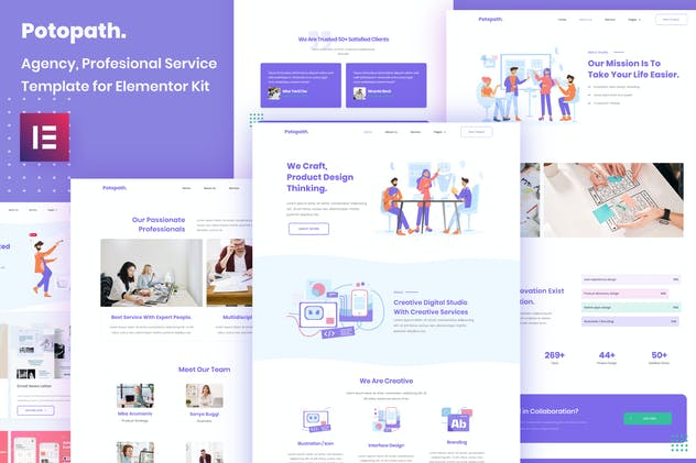 Potopath - Digital Agency Elementor Template Kit