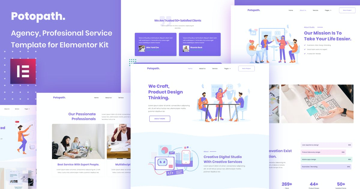 Download Potopath - Digital Agency Elementor Template Kit by portocraft