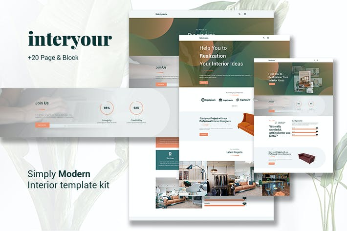 Interyours - Home Interior Design Elementor Template Kit it